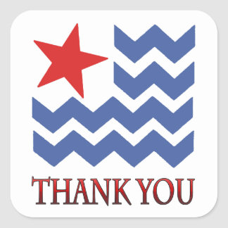 Waves Of Thank You Veterans Day Stickers