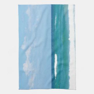 WAVES OF THE OCEAN DISH TOWEL