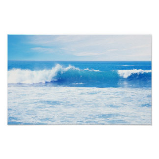 Waves of the ocean poster