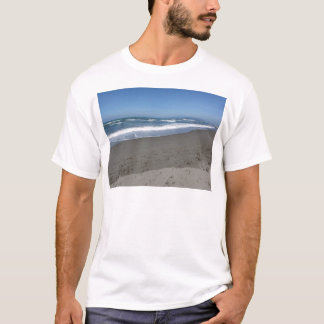 Waves of the sea on the sand beach T-Shirt
