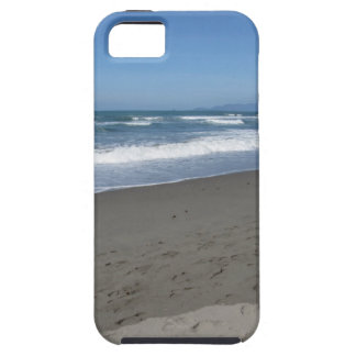 Waves of the sea on the sand beach tough iPhone 5 case