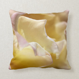 Waves Of Yellow Rose Pillow Throw Cushions