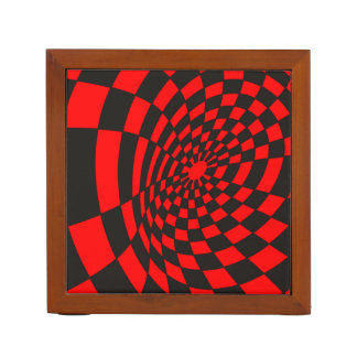 Waves on a Checkerboard Desk Organiser