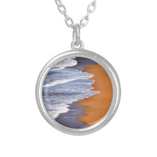 WAVES ON BEACH QUEENSLAND AUSTRALIA SILVER PLATED NECKLACE