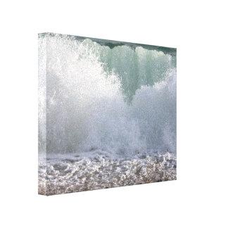Waves On The Shingle, Canvas Print
