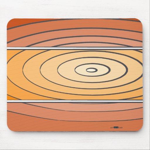Waves Oranges Mouse Pad