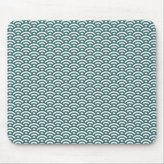 Waves pattern mouse pad