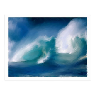 Waves Postcard