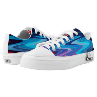 waves printed shoes