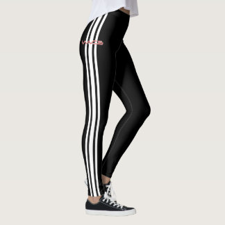 Waves Racer Leggings - White Stripe Edition