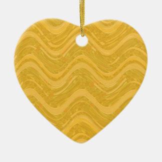 WAVES : SPIRITUAL Gold ENERGY: Lowprice Store Ceramic Heart Decoration