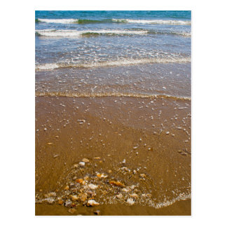 Waves Splashing Against Pebbles on a Beach Postcard