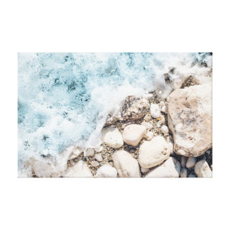 Waves | Stones | Rocks | Ocean Canvas Print
