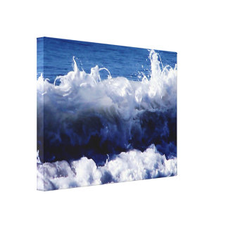 Waves Waves by ArtisicVegas Charles Meade Canvas Print