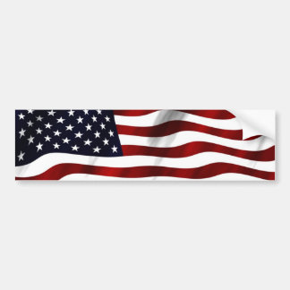 Waving American Flag Bumper Sticker