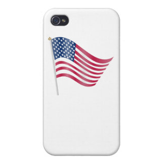 Waving American Flag iPhone 4/4S Cases