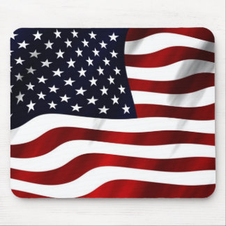 Waving American Flag Mouse Pad