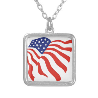 Waving American Flag Necklace