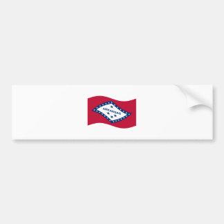 Waving Arkansas Flag Bumper Sticker