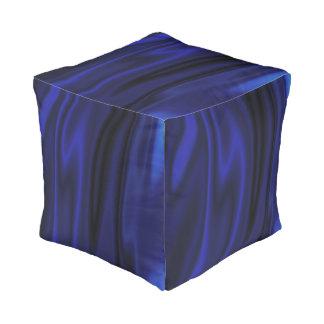 Waving blue pouf
