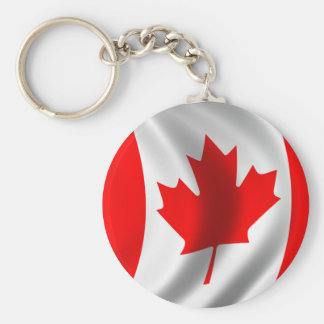 Waving Canadian Flag Key Ring