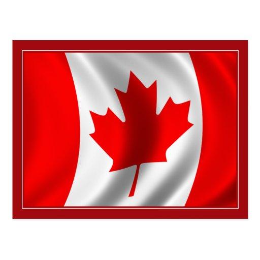 Waving Canadian Flag Postcard