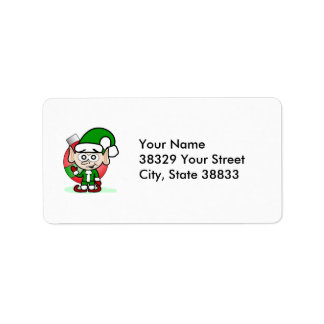 Waving Elf Address Label