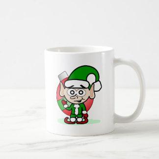 Waving Elf Basic White Mug