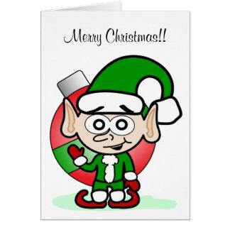 Waving Elf Greeting Card