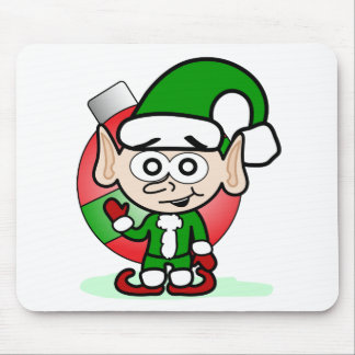 Waving Elf Mouse Pad