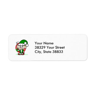 Waving Elf Return Address Label