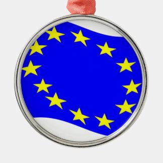 Waving European Union Flag Ornament