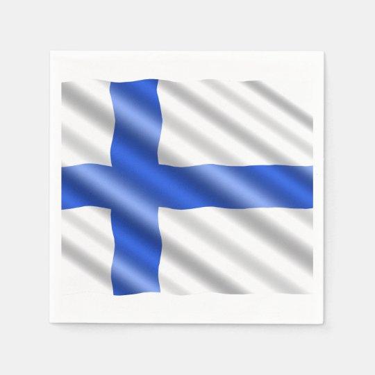 Waving Finland flag Disposable Serviette