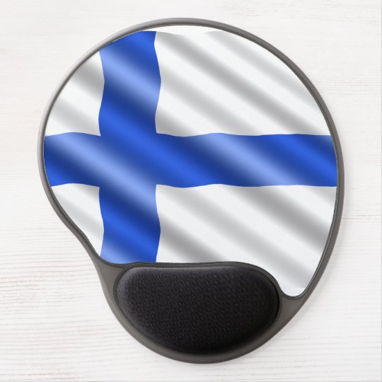 Waving Finland flag Gel Mouse Pad