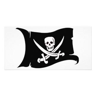 Waving Flag #10 Jack Rackham Customized Photo Card