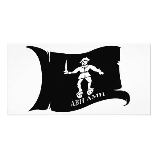Waving Flag #14 Bart Roberts 1 Customized Photo Card