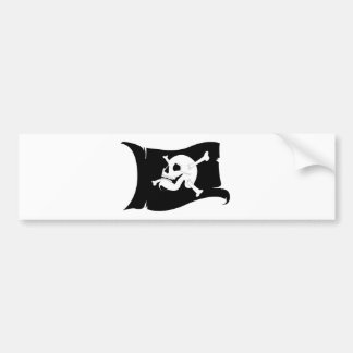 Waving Flag Jolly Roger #2 Bumper Sticker