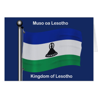Waving Flag of Lesotho Card