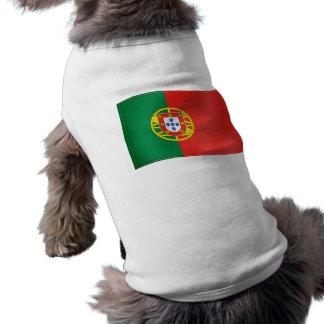 Waving Flag of Portugal Sleeveless Dog Shirt