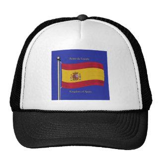 Waving Flag of Spain Cap