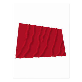 Waving Flag of the Alabama Red Rovers Post Card