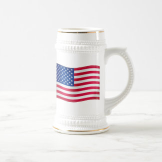 Waving Flag of USA Beer Stein