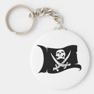 Waving Flag-Pirate Icon #10 Key Ring