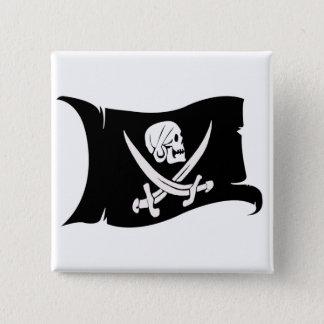 Waving Flag-Pirate Icon #6 15 Cm Square Badge