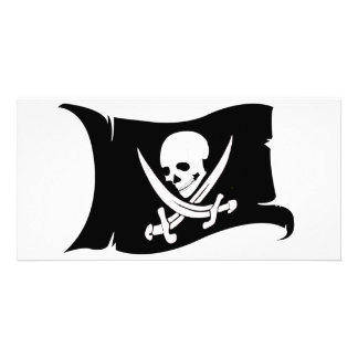 Waving Flag-Pirate Icon #7 Photo Card