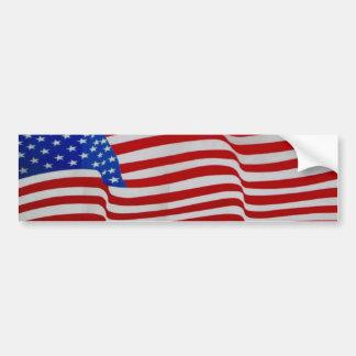 waving flag sticker bumper sticker
