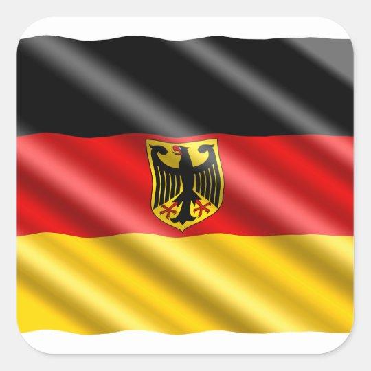 Waving Germany flag Square Sticker