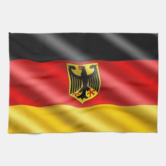 Waving Germany flag Tea Towel