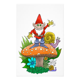 Waving Gnome.jpg Customised Stationery