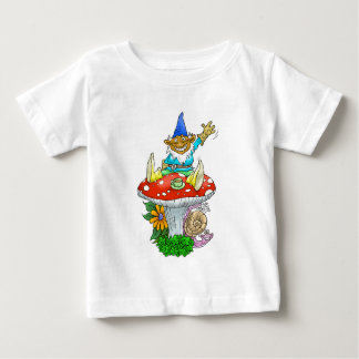 Waving gnome on an infants T-shirt. Baby T-Shirt
